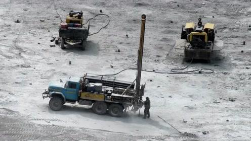 实拍花岗岩钻机工作过程,一场硬碰硬的较量