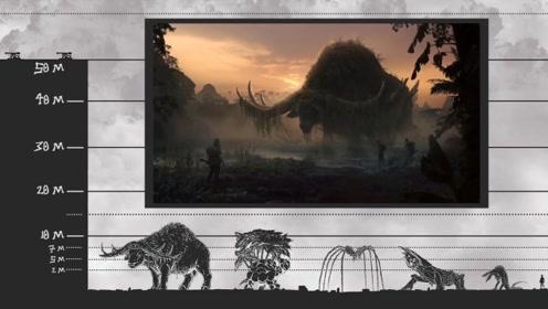 水墨画版影视巨兽体型对比,从小型到巨型都有这些