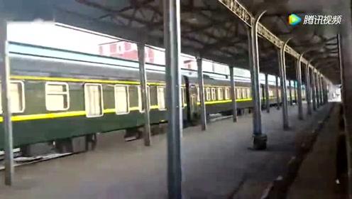 图们开往山海关的绿皮车 k5092次进梅河口站