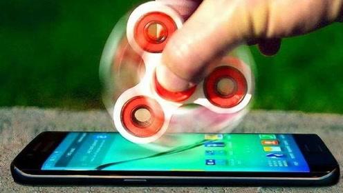 千万别小看指尖陀螺,当旋转到时速1800千米,手机:真的惹不起