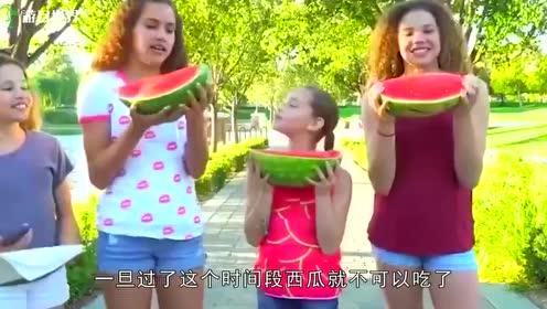 用蜡封存了一年的西瓜,切开后在场的人都懵了!
