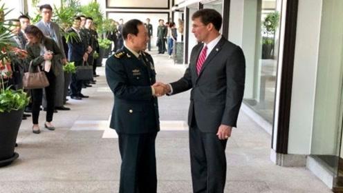 """中国防长魏凤和当面警告美防长:决不容忍发生重大""""台独""""事变"""