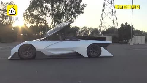 有氧气罐的赛车!迪拜姐试贾跃亭的FF01