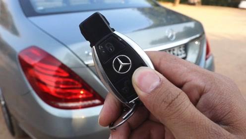 180万买的奔驰S500加长版,按下钥匙打开后备箱,霸气上演了