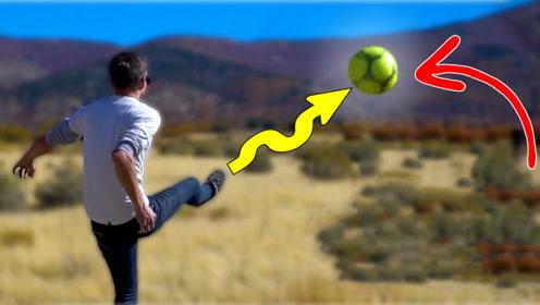 将氦气充进足球,就能轻松踢出香蕉球?实验结果可不会骗人!