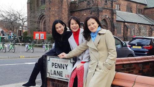 陈慧珊与宣萱同游英国 49岁宣萱希望散播正能量