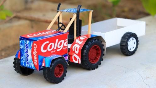 玩具车的制作,是不是很酷啊!