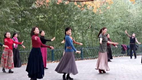 北京紫竹院公园短发美女老师,好久不见,跳的太棒了