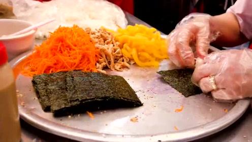 好吃的迷你米饭卷,感觉很像日本寿司,味道极好!