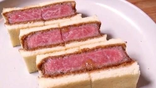 日本天价三明治,一口下去就上千元,看到食材瞬间就不心疼了!