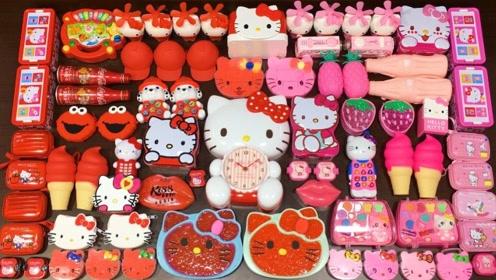 红色与粉色凯蒂猫系列混泥,无硼砂,你喜欢哪一个