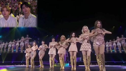 这样的女团在台上劲歌热舞,谁能顶得住!男团表情都亮了!