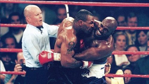 泰森VS霍利菲尔德的两次战斗,怒咬耳朵赔偿3500万美元!