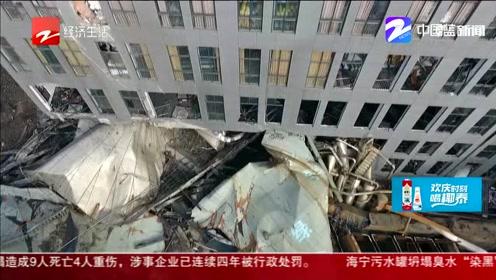 """海宁事故伤员有4人在重症监护室  幸存者称""""墙面突然倒了进来"""""""