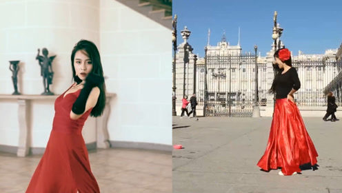 太迷人了吧!红裙美女翻跳西班牙神曲《Despacito》,这优秀的舞姿给跪了