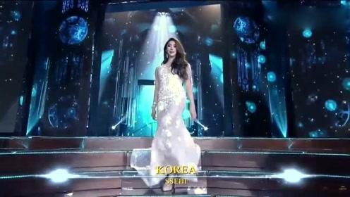 韩国美女上台,优雅自信,这样的颜值打几分?