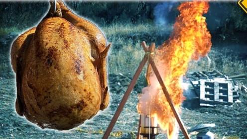 把未解冻的火鸡放进热油锅中,没想到油炸变爆炸!