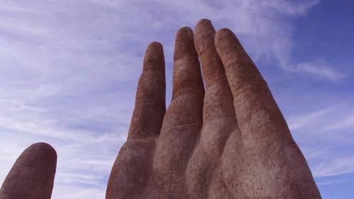 """智利的壮观""""五指山"""",从沙漠中伸出,纪念惨遭酷刑的受害者"""