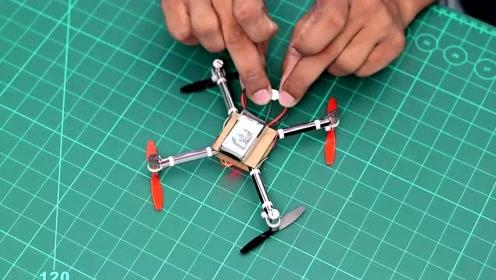 无人机也能自己做?小伙在家做了一个,原理相当直观