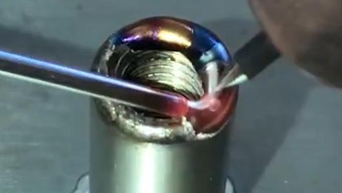 令人敬畏的焊接工艺!还没看清就融合在一起了