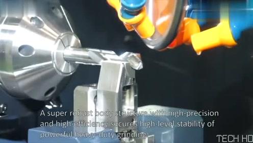 全自动化磨钻头,还是第一次见这么先进的机床,大开眼界了!