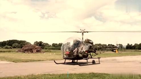 实拍国外大头微型直升飞机的过程,网友:性能太强大了!