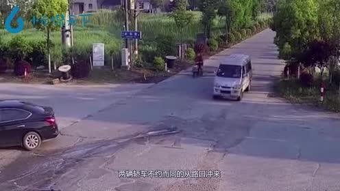 作死轿车迷之自信!马路上放飞自我!下一秒安全气囊都救不你