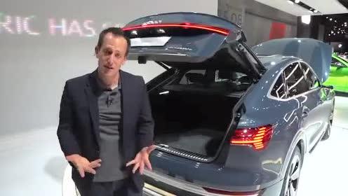 发动机舱欣赏,全新奥迪e-tron Sportback测试
