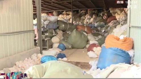 现场!衡阳一棉被厂用生活垃圾制作蚕丝被,制作现场触目惊心