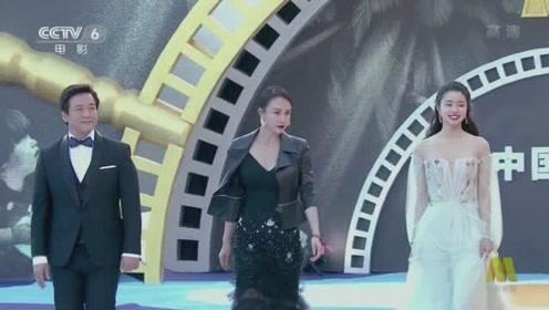 《急先锋》导演唐季礼 携新人演员母其弥雅 徐若晗亮相闭幕式红毯