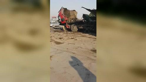 惨!吉林一罐车维修时发生爆炸致2死1伤 现场满地碎片