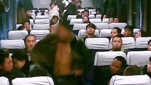 几个菜喝成这样?男子在火车上发酒疯,飞踹殴打其他旅客被行拘