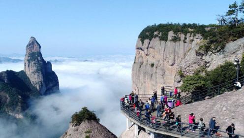 """浙江""""拼人品""""的5A景区,耗资1.5亿修建,看到美景却要靠运气"""
