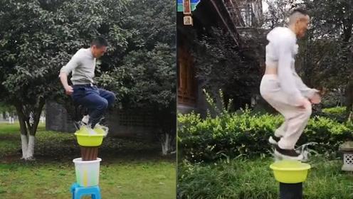 """这不科学!中国小伙展示""""水上漂""""绝技,网友:我听到牛顿在哭泣"""