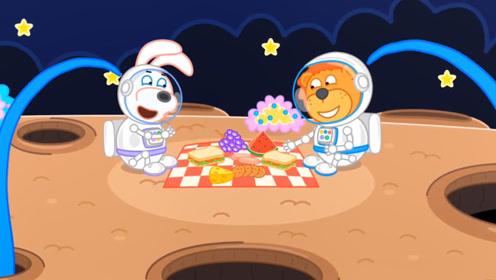 宇航员月球上面野餐,竟引来怪物偷吃食物,结果反转让人意想不到!