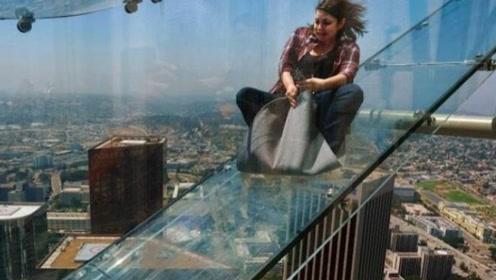 世界上最刺激的楼梯,从70层楼外部滑下,体验一次让人浑身冒冷汗!