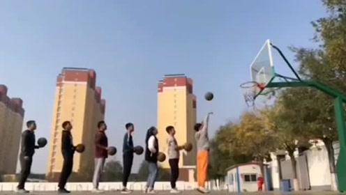 你觉得这些人中哪个人压力最大?篮球趣玩法,真的非常有创意啊 !