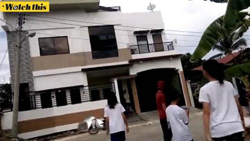 突发!菲律宾发生6.9级地震 居民纷纷跑出来查看情况
