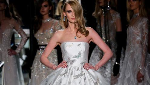 婚纱镶嵌165克拉钻石 售1400万