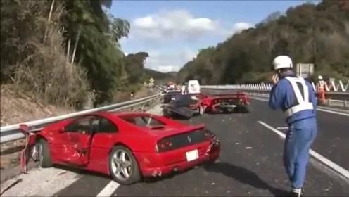 分分钟毁几亿!土豪驾驶超跑撞车事故合集