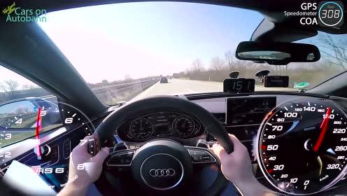 奥迪RS6高速偶遇嚣张RS3,RS6启动了暴力模式