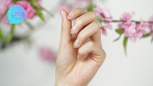 4款DIY元气樱花美甲 让春天停留在指尖