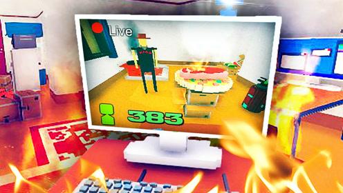 屌德斯解说 吃播模拟器 知名吃播直播烤肉把房子给烧了!