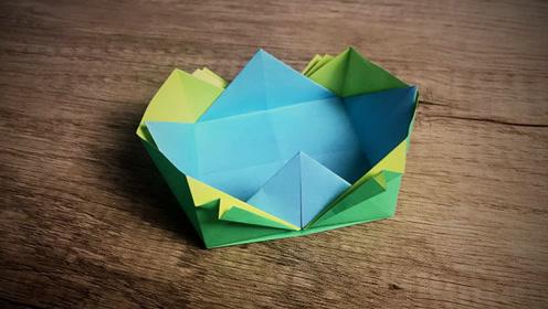 手工折纸 纽扣花