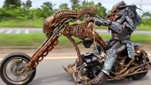 这辆摩托车骑上公路,看有谁敢拦?