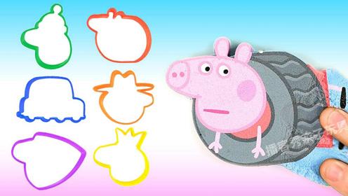 创意diy小猪佩奇一家3d电影蒙太奇,论创意我只服魔力太空沙!