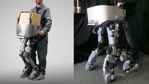 会变形的机械腿,这外骨骼能两腿变四腿,能走能骑还能运货