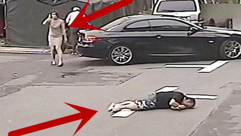 豪车女司机路口撞倒老大爷,她随后的反应让人无言以对!