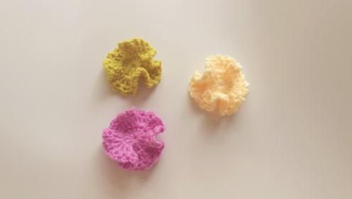 手工钩针编织基础学习 小配件花朵装饰物的钩织方法视频教程