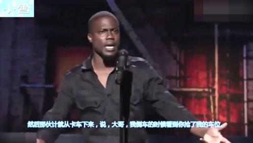 外国人抢了中国人的车位,还要跟中国人干一架,因一个动作放弃了!